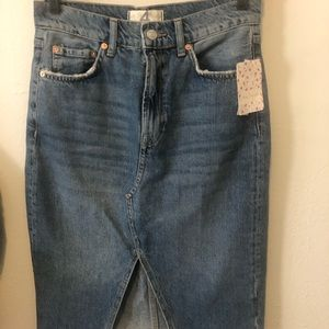 NWT Free People Denim Skirt